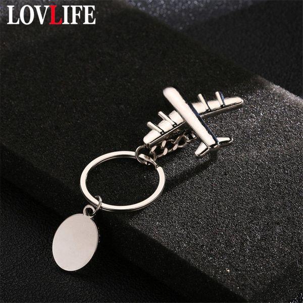 Mini Aircraft Model Keychain Metal Flight Key Ring Bag Pendant Keyring Gifts Airplane Car Key Chain Classic Holder Dropshipp