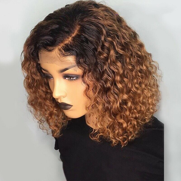 Dark Brown Curl Wig Curly Lace Front Human