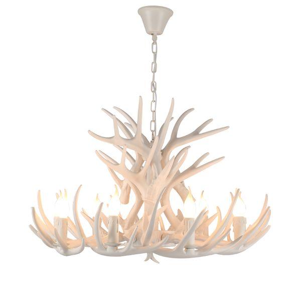 JESS Antler Chandeliers Ramadan Decorations LED Lights American Country Loft Decor Light LED 110v``260 v EMS