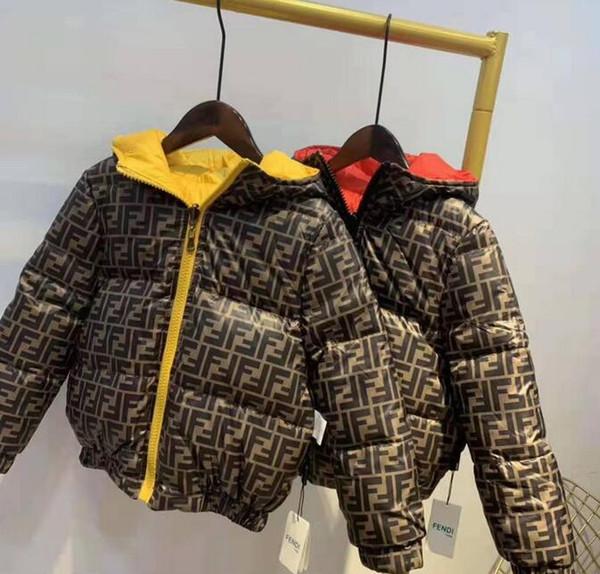 venda quente de 2020 marca infantil Casacos Boy e grosso casaco menina Hoodie Inverno Crianças Cotton coat jaqueta miúdo Casacos roupas
