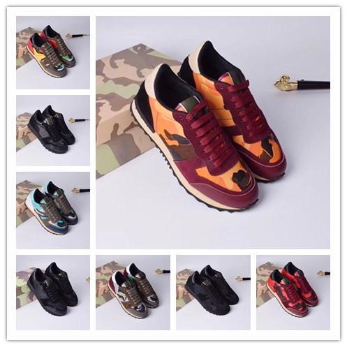 Luxury Designer Brand Uomo Donna Scarpe in pelle Ricamo Taglio alto Scarpe casual Outdoor Unisex Zapatillas Walking Tatto Scarpe hy18052204