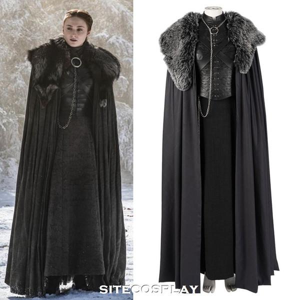 Of Großhandel Maß 8 Cosplay Outfit Damen Von Stark Halloween Staffel Kostüm Nach 2019 Sitecosplay Sansa Kleid Mantel Game Thrones hrxBQdtCs