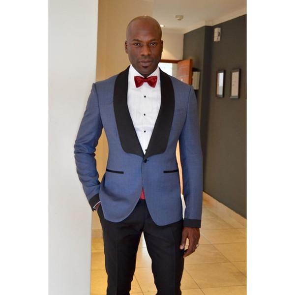 Classic Groomsmen Shawl Lapel Groom Tuxedos One Button Men Suits Wedding/Prom Best Man Blazer ( Jacket+Pants+Tie ) A505