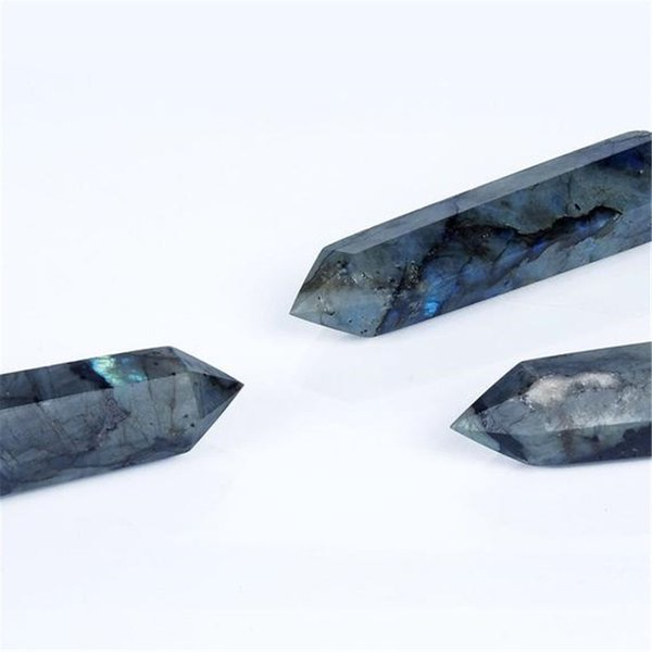 Wholesale Hot Sale Natural Obelisk Labradorite gemstone Stone Pencils Quartz Crystal Point Wand for Reiki Healing