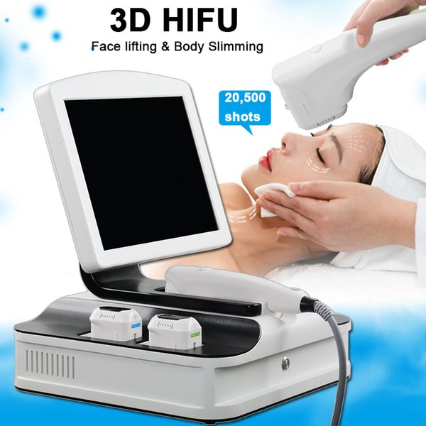 2019 3D HIFU Face Tighten Wrinkle Removal Machine Body Slimming Skin Rejuvenation Machine 3D HIFU With 8 Cartridges