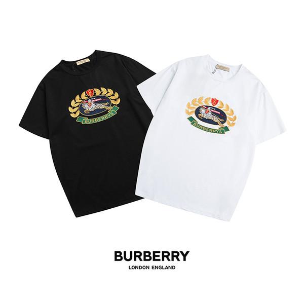 2019 fashion wind Luxury Europe Paris Embroidery Contrast medusa t Shirts V Fashion Mens Designer T Shirts Casual Men Clothes Tee