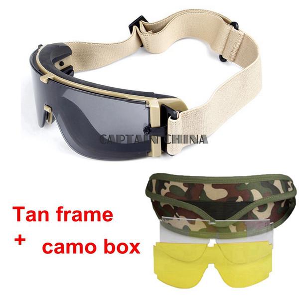 tan frame camo box