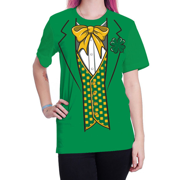 Plstar Cosmos Green Hats and St. Patrick's Day 3D T shirt Pullover Tracksuit Mr Lucky Four-leaf Men Women tee shirt Tops 1 Tee