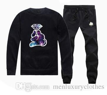 Mens Diamond Designer Jogger 2pcs Suits Tracksuits hiphop Hoodies Pants Clothing Sets Crooks and Castles