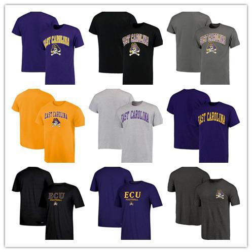 Doğu Carolina Pirates Temel Kemer Yaz T-Shirt Kısa Kollu Yuvarlak yaka Tee gömlek Tri-Blend ücretsiz kargo