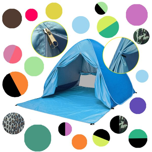 34 colors UV Protection Beach Tent Automatic Instant Pop Up Camping Tent Lightweight Summer Tent Outdoor Sun Shelter Cabana