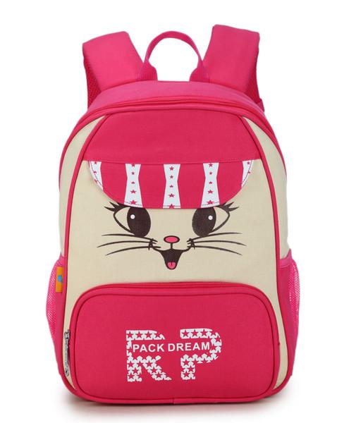 New Women Canvas Backpack Lovely Cat Printing Backpack Cute Cartoon Cat Printing Backpack School Bag for Teenage Girls Mochila
