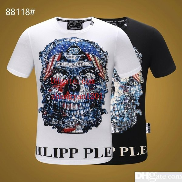 2019 summer mens clothes colored Nail drill Pattern printing T-shirts casual fashion Tee shirts homme top quality mens T-shirts MN-6