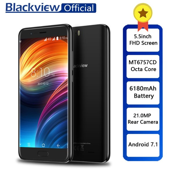 Blackview P6000 5.5inch in-cell FHD Helio P25 6GB+64GB Smartphone Face ID 21.0MP Camera 4G Dual SIM Mobile Phone 6180mAh Battery