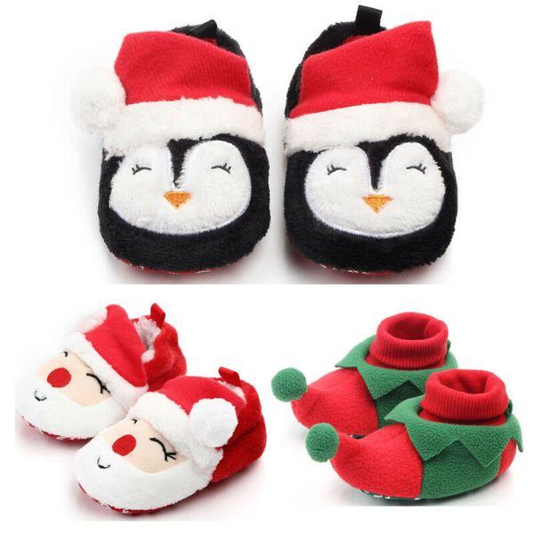 Christmas Newborn Kids Baby Girl Boys Anti-Slip Warm Socks Slipper Shoes Boot Baby Autumn Winter Warm Casual Shoes 0-12 Months