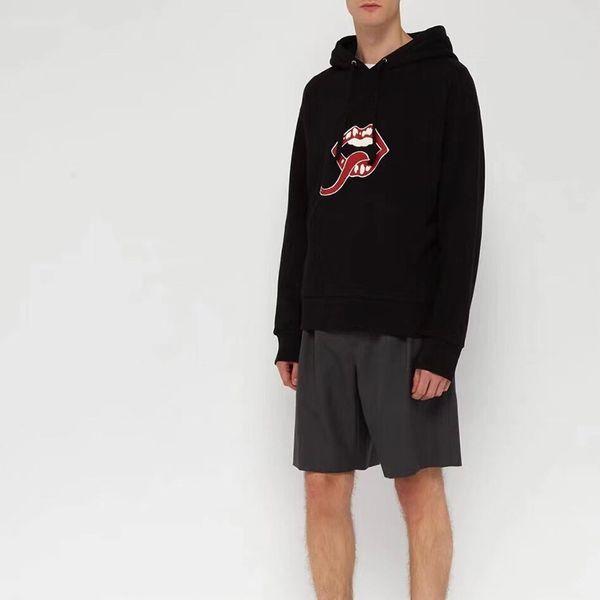18ss europa sudaderas con capucha de lujo boca impresa clásico de manga larga sudadera moda casual sudaderas con capucha al aire libre hFTTWY108