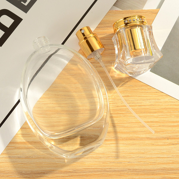 50ml perfume bottle gla refillable empty atomizer prayer bulk packing aluminum lid co metic container travel make up fine mi t thick