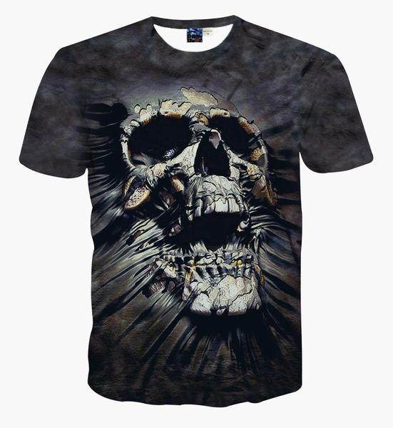 Wholesale 3D bone T-shirt, male and female skeleton series design Short Sleeve sport leisure T-shirt Kuso shirt