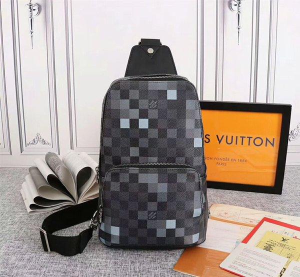 Lusso 5A Petto Bag Damier Graphite viale Pixel L Moda Uomo Donne Borsello V Outdoor Sports Mezzo Borse # 1502