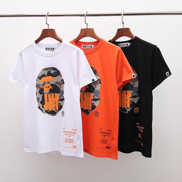 Universe ape-man gibt niemals aufgeben beiläufige, locker sitzende kurze, heiße Sommermarken-Modedesigner-Männer T-Shirt tricolor Hip-Hop T-s
