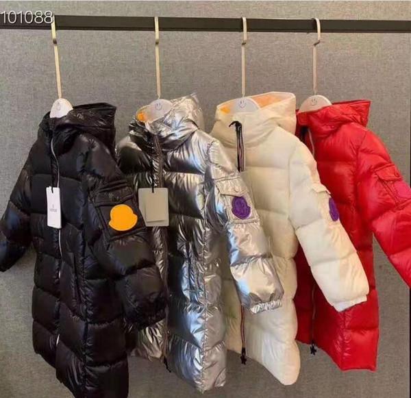 8 Renk Kızlar 2019 yeni Kış Aşağı jakcet M Aşağı Ceket Kapüşonlu Bel 90% Kalın Ördek giyim çocuk Parkas için Sıcak Giysiler ...