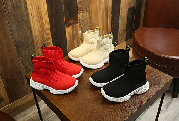best selling Insole Length 15-21CM 2-12 Years Children Girls Boys Kids Sneakers Of Light And Breathable Mesh Footwear Casual Socks Shoes