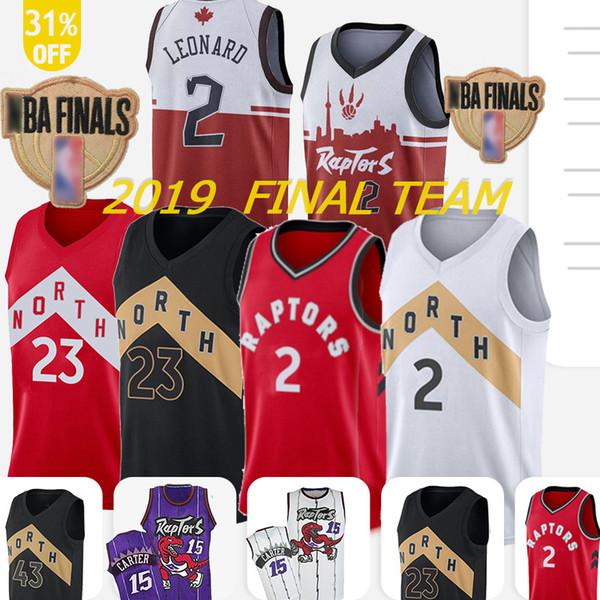 2 Kawhi jersey 2 Leonard 43 Kawhi jersey 23 Fred VanVleet Raptor Camby 21 camby 15 Carter Retro style 1 McGrady 7 Lowry