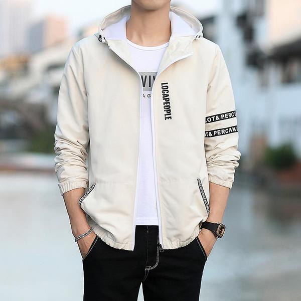 Giacca da uomo primavera e autunno giacca maschile versione coreana della giacca con cappuccio auto-coltivazione giovani studenti camicia selvaggia e bella