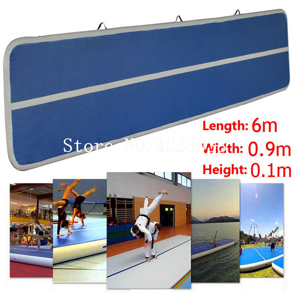 Free Shipping 6m Length Best Selling Cheap Tumble Track Inflatable Air Mat AirTrack Inflatable Air Floor Mat Small Airtrack