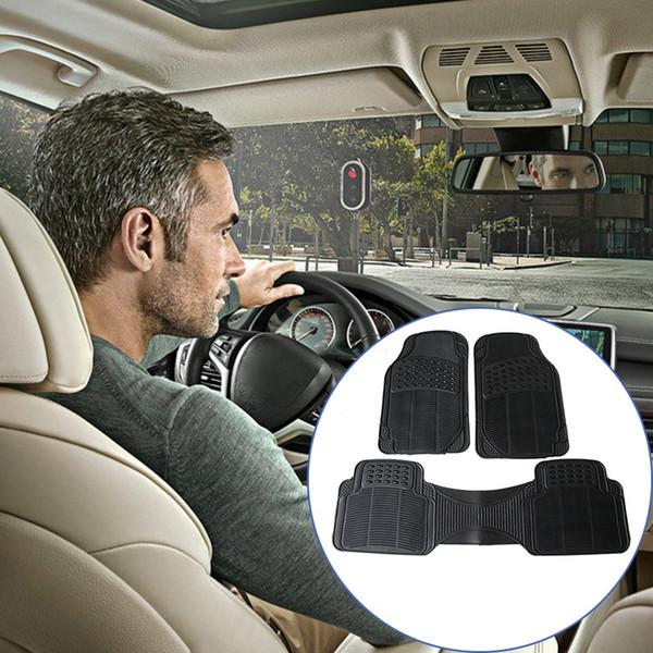 Tapetes Do Carro Não-Deslizamento Material Auto Tapetes Preto Auto Acessórios Liner Tapete Interior