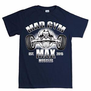 Gold Mad Gym Max Muscle Fitness Sports Training Running Exercise T shirt Tee Top