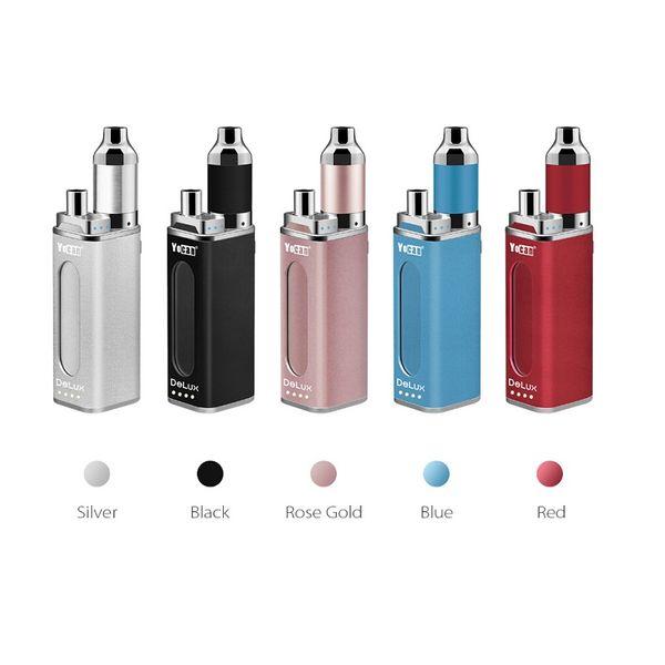 Yocan DeLux Kit 1500mAh Power Bank Battery 450mAh Mini Box Mod Wax Oil Atomizer 2 In 1 Vaporizer Kit Genuine