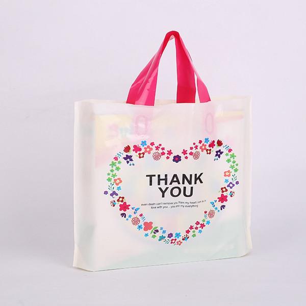 Thank you Print Tote Bag Candy Gift Wrap Wedding Party Gift Bag Woman shopping storage bag