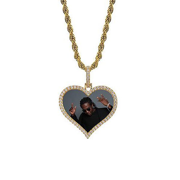 Gold Heart+Rope Chain