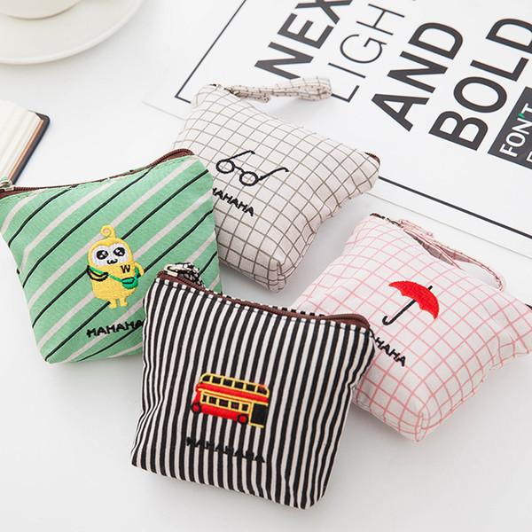 Women's mini bag girl cute fashion snacks coin purse key mobile phone storage bag small fresh cartoon coin purse portamonedas