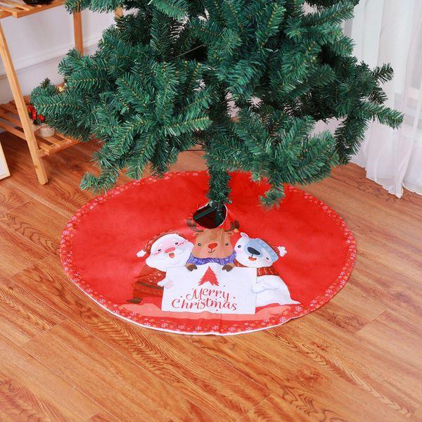 Weihnachtsbaum-Rock Wohnkultur Langes Haar Non-Woven Weihnachten Decoraion Ornament 35inch Durchmesser Baum Rock AG30 2019