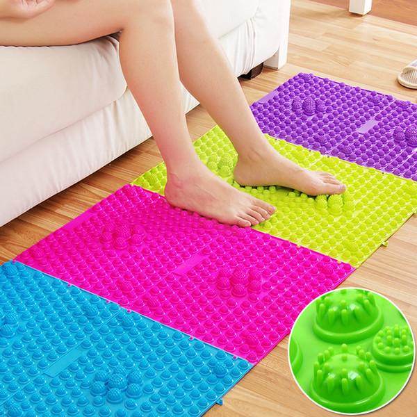 Tapis assage pieds 29x39cm Massage des pieds Pad Plate pression Toe explosion Cailloux Shiatsu maison de fitness Couverture de yoga couleur aléatoire bathroo ...