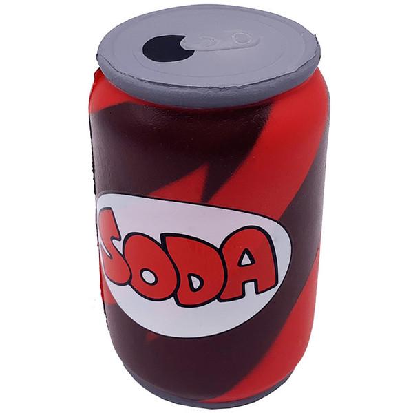 20pcs-rare squishy kawaii red pu toy Coke beer soda cans jumbo sqishy slow rising Simulation toy ( cheap squishies wholesale)
