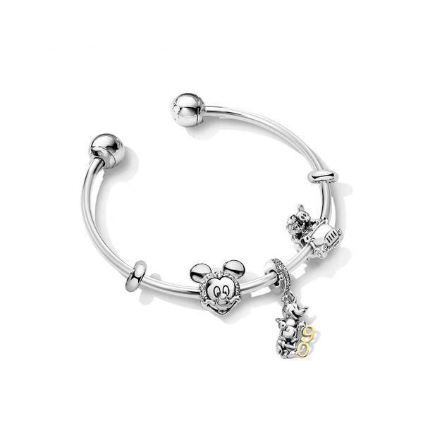 100% 925 Sterling Silver 90th Anniversary Celebration Stringed pan Bracelet Gift Set Bracelet Set Limited Collection