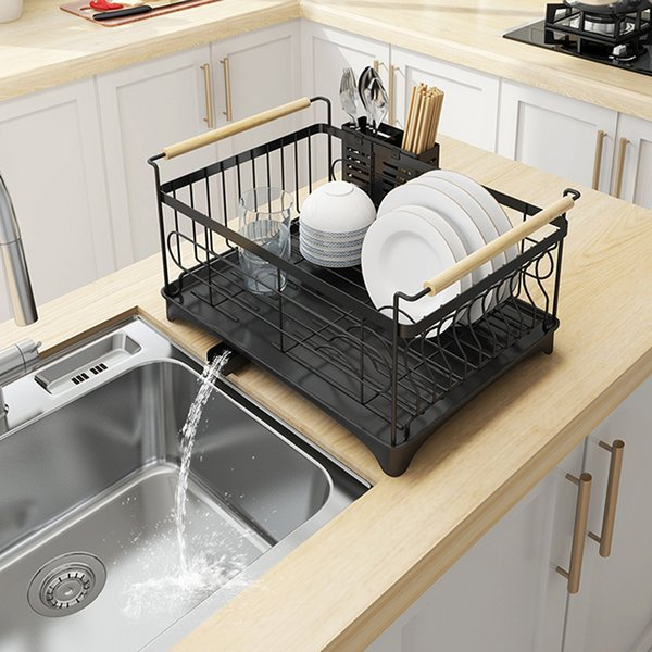 2019 Tableware Drain Shelf Kitchen Stainless Steel Sink Dish Drying Rack Household Kitchen Multi Use Storage Holder Tableware Collection Shelf From