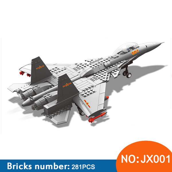 Wange JX001 model building kits city plane 3D blocks Educational model & building toys hobbies for children 281PCS