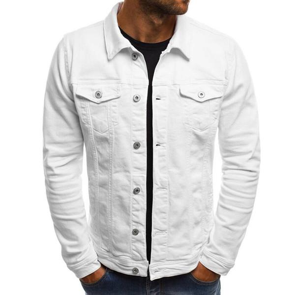 Nova marca de Moda Mens Designer Jaqueta Novo Casuais Jaqueta Jeans Mens Fino Trabalho Cor Sólida Casaco Moda Mens Jaqueta de Alta Qualidade