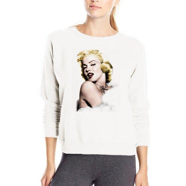 Sexy mujer Marilyn Monroe hooodies venta caliente moda streetwear jersey ropa casual de algodón kpop gótico sudadera con capucha suelta