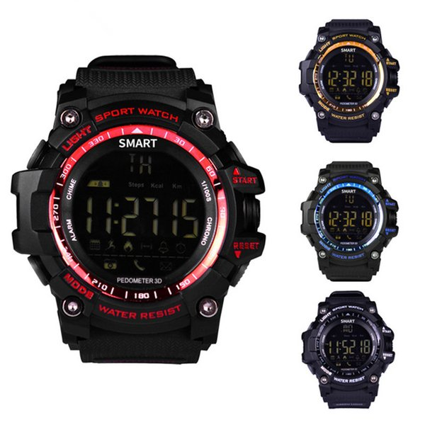 Smart Watch Фитнес-Трекер Bluetooth Часы Уведомления Дистанционного Управления Шагомер Спортивные Часы IP67 Водонепроницаемый мужские Наручные Часы
