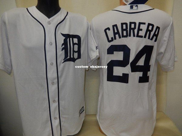 Cheap custom MIGUEL CABRERA Baseball Cool Base JERSEY WHITE New Stitched Customize any name number MEN WOMEN BASEBALL JERSEY XS-5XL