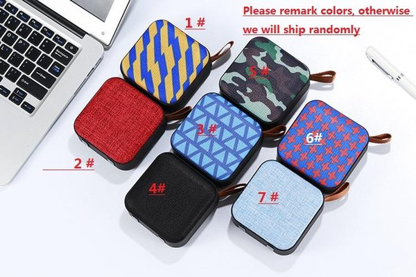New wireless Bluetooth mini speaker Portable card aux usb input subwoofer mobile audio box with mic and retail box