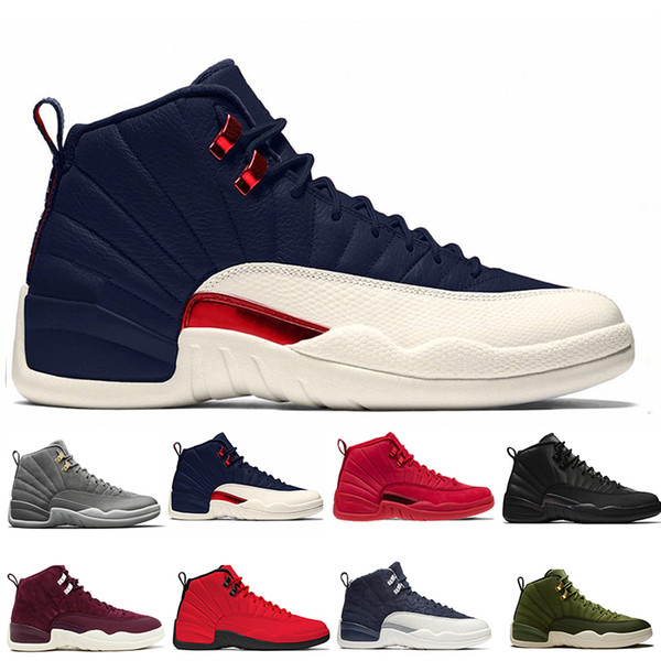 12 12s Gym red Bulls mens Basketball shoes Michigan International Flight College Navy Flu Game Taxi French Blue men sports sneakers designer