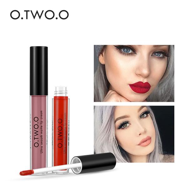 12Colors O.TWO.O Matte Liquid Lipgloss Makeup Long Lasting Waterproof Soft Texture Lip Gloss Matte Lipstick for Women Beauty