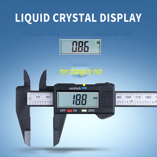best selling 150mm LCD Digital Caliper Electronic Digital Vernier Caliper Plastic Vernier Caliper With Battery Gauge Micrometer Measuring Tool VT1688