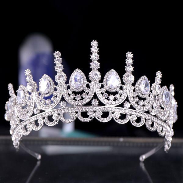 Cristal Couronne Tiara Mariée Bijoux De Cheveux Bandeau Princesse Pageant Couronne Chapeaux Mariée Diadèmes De Mariage Cheveux Ornements